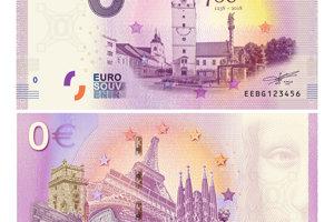 Eurobankovka s motívom Trnavy s nominálnou hodnotou 0.