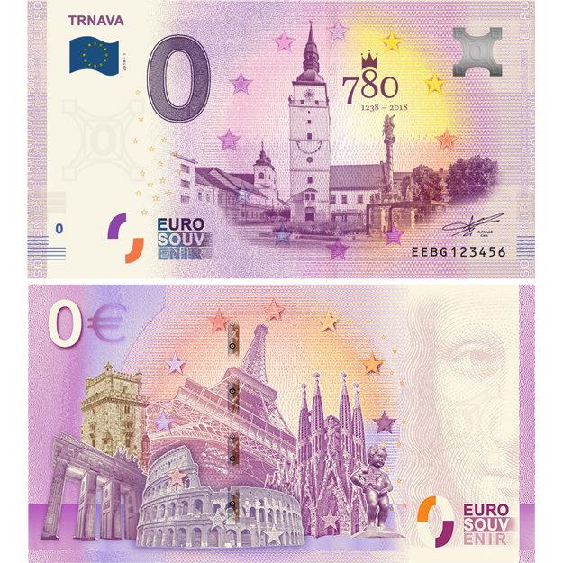 Takto vyzerá eurobankovka s motívom Trnavy.