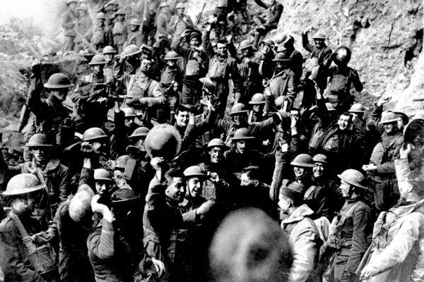 Americké jednotky neďaleko mesta St. Mihiel.