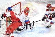 Momentka zo zápasu Rusko - Česko.