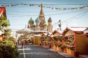 Predvianočná Moskva je čarovná