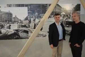 Jakub Urik, riaditeľ Slovenského inštitútu v Paríži a Benjamin Vincent, výkonný manažér galérie MaMo