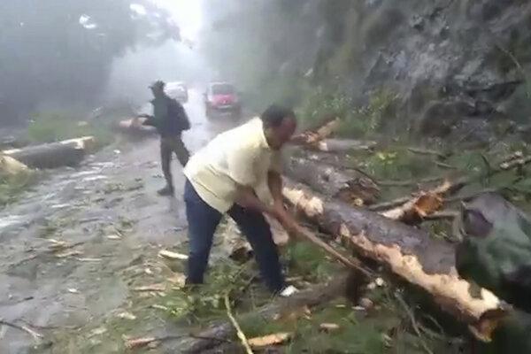 Dôsledky cyklónu v Indií.