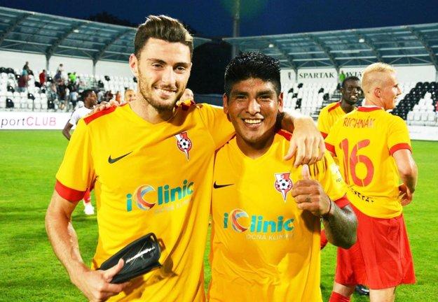 Nikola Gatarić je najlepším strelcom Serede. Vpravo Aldo Baéz.
