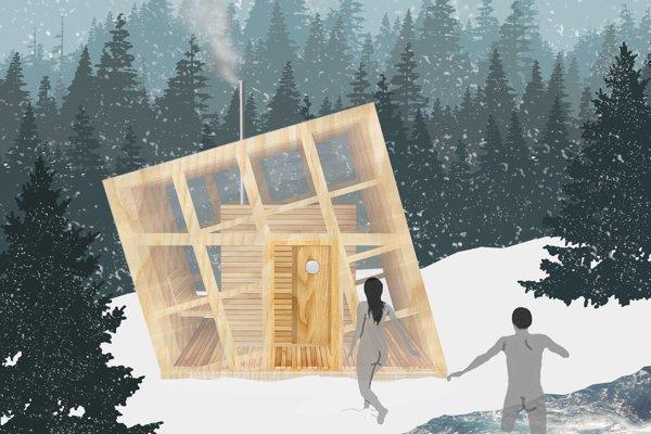 Vizualizácia sauny.