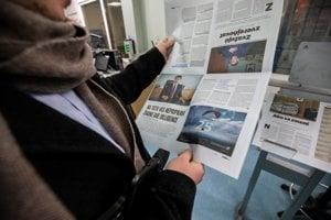 Tlač magazínu Právo v tlačiarni vydavateľstva Petit Press v bratislavskej Petržalke.