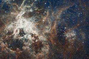 Hmlovina Tarantula, ktorá sa nachádza v súhvezdí Mečiar.
