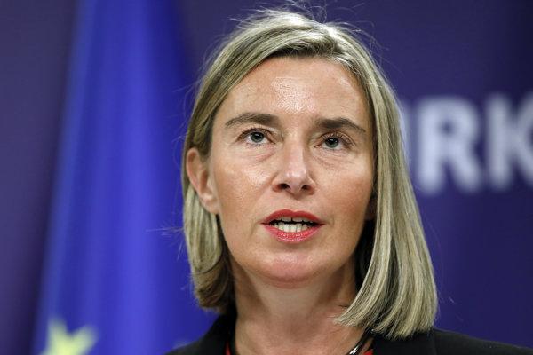 Šéfka európskej diplomacie Frederica Mogheriniová.