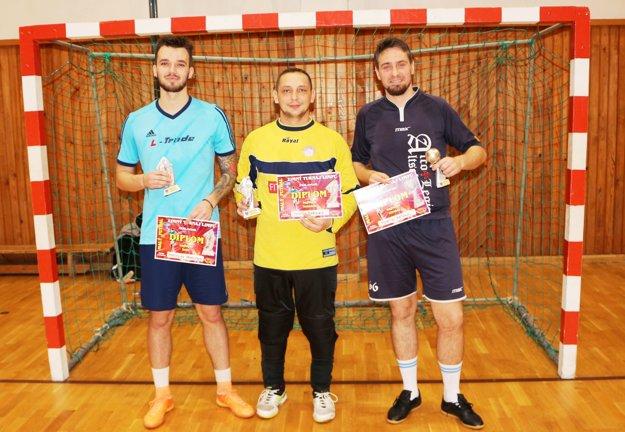 Traja najlepší hráči Zimného turnaja LIMFU.