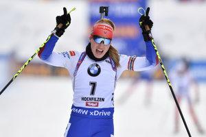 a07008472b Paulína Fialková bola druhá v stíhačke v Hochfilzene - Šport SME