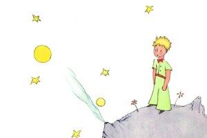 Ilustrácia z obálky knihy Malý princ.