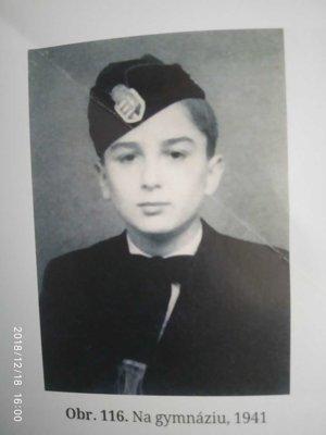 Zoltán Meško ako mladý chlapec.