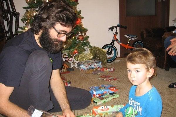 Vianoce 2016. Marek Hattas so synom Maxom.