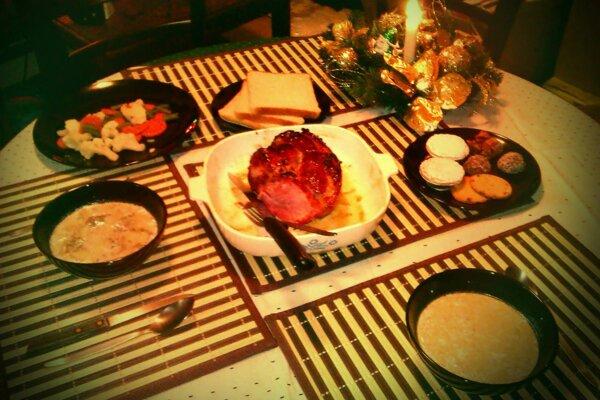 Vianočný stôl v afrike