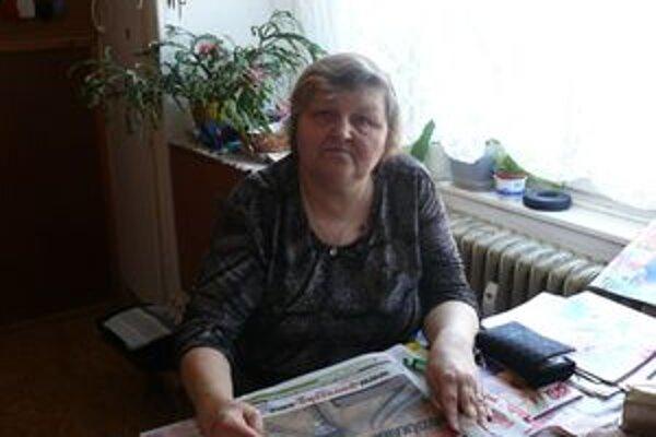 Helena Štefániková sa výhre potešila.
