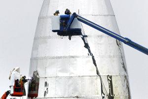 Finálny model Starship bude mať konštrukciu z nehrdzavejúcej ocele.