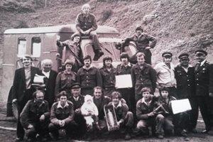 Historická fotografia hasičského zboru.