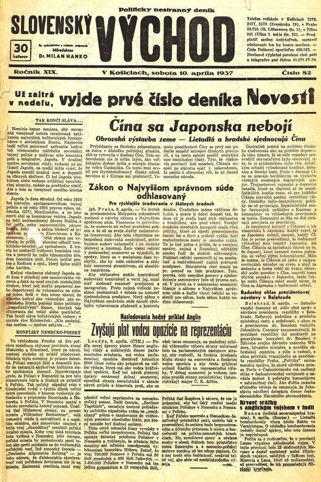 Posledné číslo Slovenského východu.
