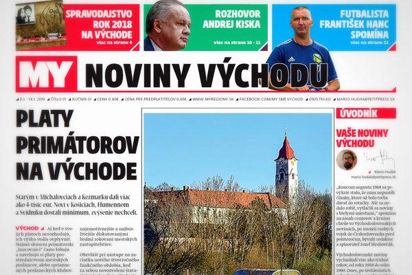 My Noviny východu začínajú vychádzať v utorok 8. januára. (ZDROJ: MARIO HUDÁK)