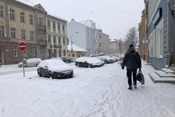 Zima v Trenčíne.