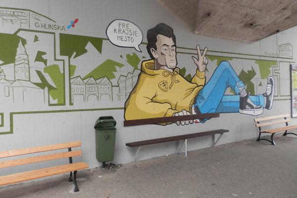 Ležiaceho Bernoláka doplní ďalší streetart.