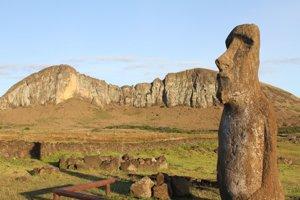takmer polovica sôch je umiestnená na jednom mieste - krátere Rano Raraku. Tu dávni ľudia Rapa Nui zbierali kamene na tvorbu monolitov.
