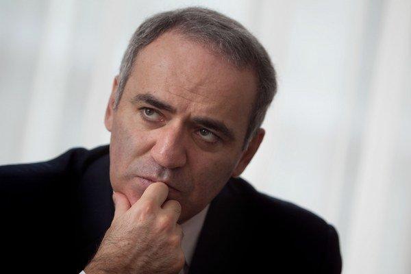 Šachový veľmajster Garry Kasparov.