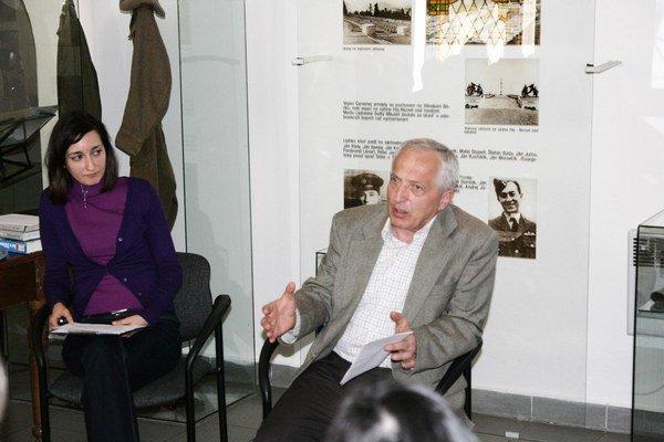 Pavol Frankl na besede v Múzeu Janka Kráľa.