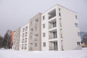 Novostavba pozostáva z 24 bytových jednotiek.