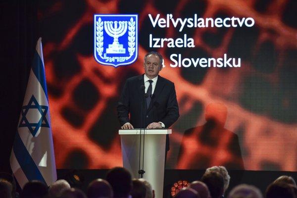 Kiska počas slávnostného odovzdávania vyznamenaní Spravodliví medzi národmi 16. januára 2019 v Bratislave.