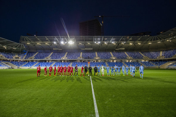 Úvodný prípravný zápas na novom štadióne na Tehelnom poli.