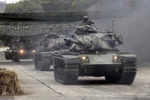 Tanky typu M60A3 Patton taiwanskej armády.