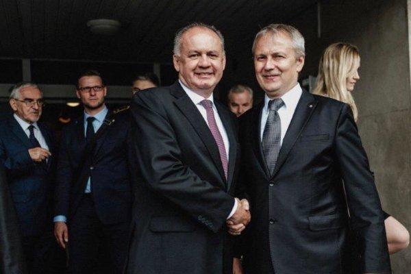 Starosta Makova spolu sprezidentom Andrejom Kiskom.