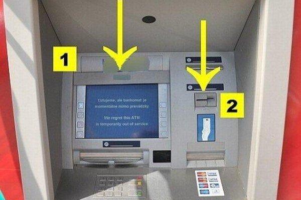 Bankomat so zariadením našili na Žilinskej ceste pri obchodnom dome.