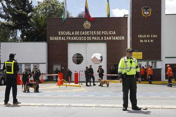 Sídlo akadémie v Bogote, ktorá sa stala terčom útoku.