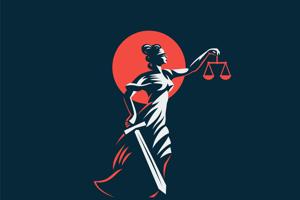 Justícia (latinsky Iustitia) je starorímska bohyňa spravodlivosti. Vyobrazenie Justície so stužkou cez oči má symbolizovať nestrannosť, aby nevidela účastníkov pojednávania – ich pôvod, moc, postavenie, či majetok, aby rozhodovala bez strachu a vidiny prospechu, ale konkrétny prípad.