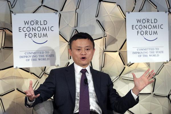 Jack Ma na Svetovom ekonomickom fóre vo švajčiarskom Davose.