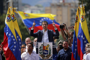 Juan Guaidó sa vyhlásil za venezuelského prezidenta.