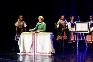 Ministerka kultúry Ľubica Laššáková počas slávnostného vyhlásenia prvkov a aktivít za rok 2018 zapísaných do Reprezentatívneho zoznamu nehmotného kultúrneho dedičstva Slovenska.