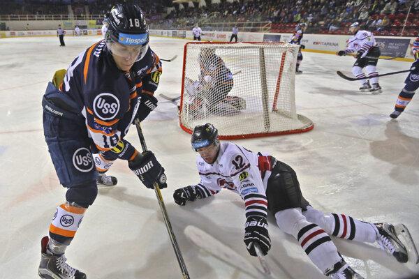 Branislav Pavúk (vľavo) ešte v košickom drese.