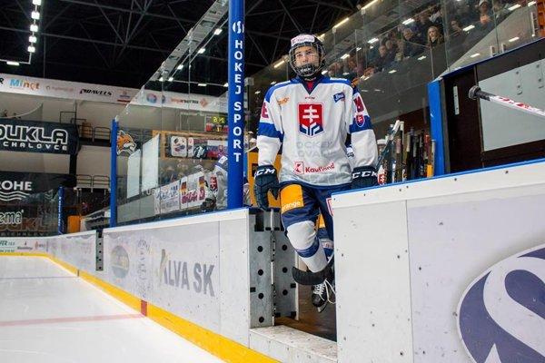 16-ročný Martin Chromiak v reprezentačnom drese Slovenska.