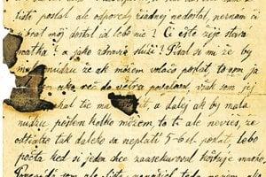 Listy spočiatku písal po maďarsky, neskôr po slovensky.