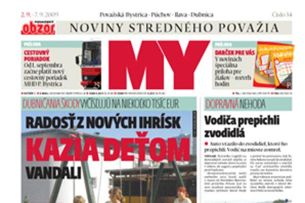 Nové vydanie regionálnych novin.