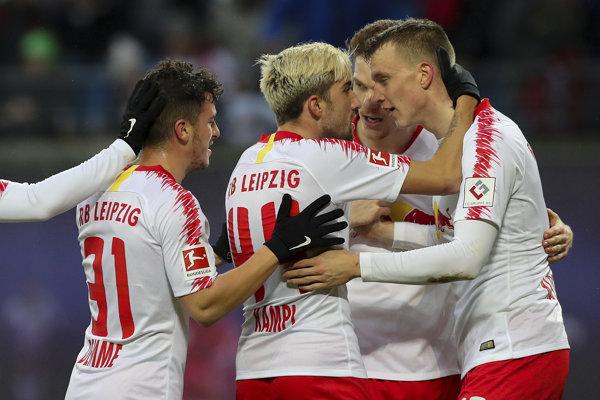 Futbalisti RB Lipska - ilustračná fotografia.