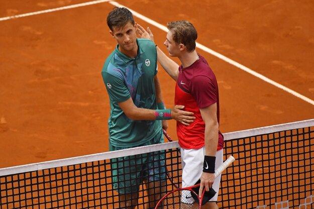 Martin Kližan (vľavo) a Denis Shapovalov.
