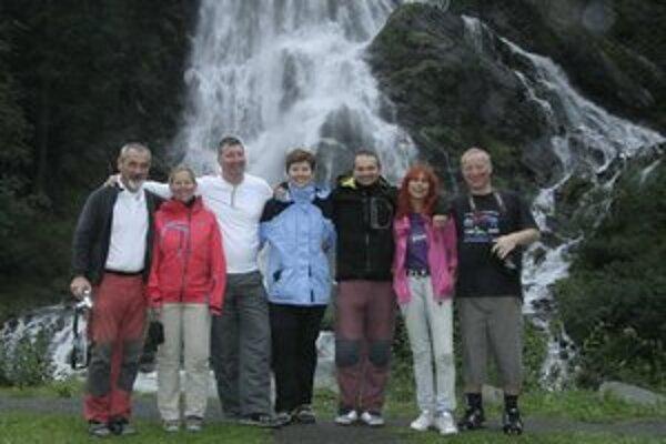Na vrchu Schare ako náhrade za Grossglockner/ Členovia expedície Grossglockner 2012 v nadmorskej výške  3043 metrov.