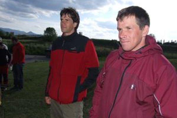 Michal Martikán (vpravo) s klubovým kolegom Alexandrom Slafkovským.