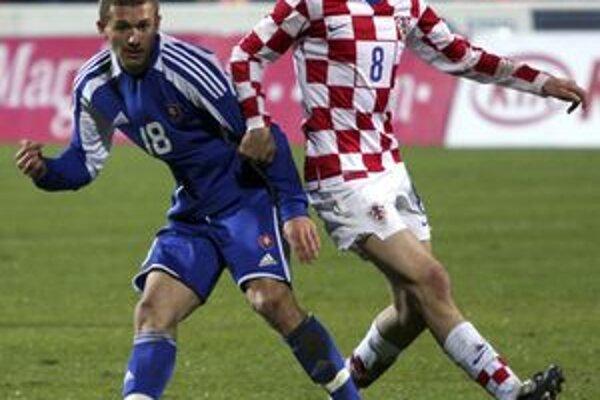 Miloš Lačný (vľavo) na majstrovstvách Európy hráčov do 21 rokov.