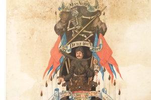 Oznamovateľ smrti z roku 1665. Je to parte Jozefa Kaziho, ktorý pochádzal z okolia Levíc.