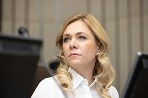 Ministerka vnútra Saková.